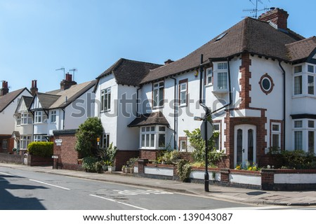 Typical british residential house.