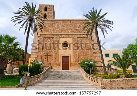 Typical Majorca church