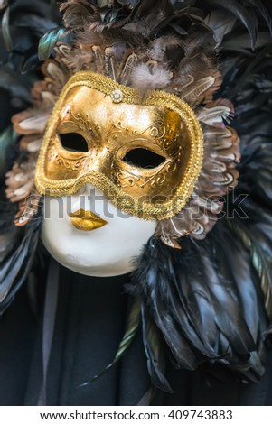 Typical Venetian colorful attribute, mask carnival.