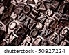 Typographic text background, disorder signs - stock photo