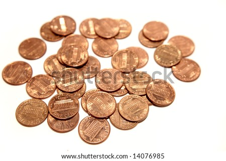 U.S. one cent coins