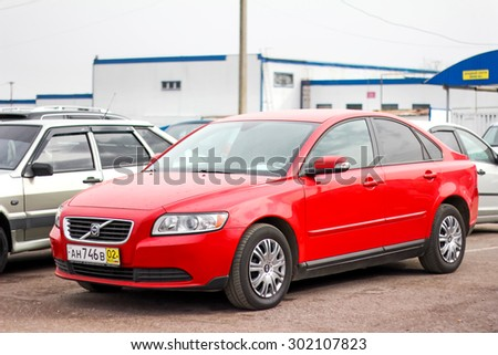UFA, RUSSIA - APRIL 19, 2012: Motor car Volvo S40 at the used cars trade center.