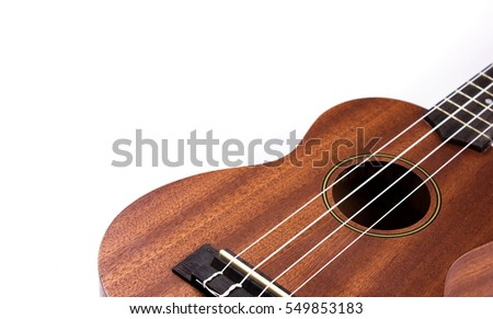 ukulele on isolated white background