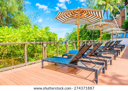 Best Hotels Pool Deck : Beautiful Luxury Umbrella Chair Hotel Resort Stock Photo 443552635 ...
