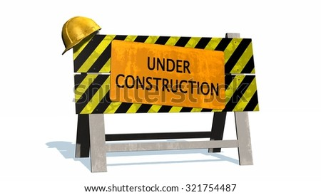 Under construction - barrier
