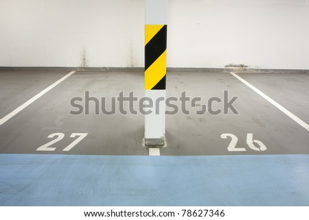 Underground garage - parking lot in a basement of house