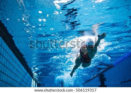 Beautiful Surfer Diving Duckdive Under Big Stock Photo 462331549 Shutterstock