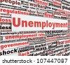 Unemployment message concept. Jobs crisis concept - stock photo