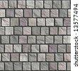 Uneven cobblestone pavement - seamless texture - stock photo