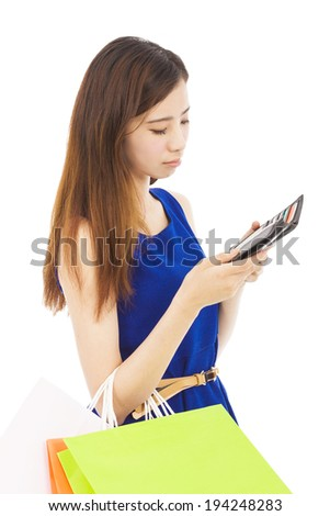 unhappy woman is so sad to check wallet