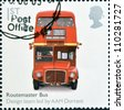 UNITED KINGDOM - CIRCA 2009: A stamp printed in Great Britain dedicates to Design Classics, shows Routemaster Bus by A.A.M. Durrant, circa 2009 - stock photo