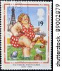 UNITED KINGDOM - CIRCA 1994: A stamp printed in Great Britain shows Bather at Blackpool (Pictorial Postcards 1894-1994), circa 1994 - stock photo