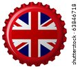 united kingdom stylized flag on bottle cap, abstract art illustration; for vector format please visit my gallery - stock photo