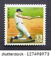 UNITED STATES-Â?Â? CIRCA 1999: A postage stamp printed in USA showing an image of Roger Maris baseball player circa 1999. - stock photo