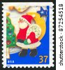 UNITED STATES - CIRCA 2005: A stamp printed by United states, shows Santa Claus, circa 2005 - stock photo