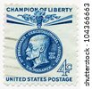 UNITED STATES - CIRCA 1960: A stamp printed in the United States, shows portrait of Thomas Masaryk, founder and president of Czechoslovakia (1918-35), Champion of Liberty, circa 1960 - stock photo