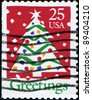 UNITED STATES - CIRCA 1990: A stamp printed in United States of America shows Christmas Tree, circa 1990 - stock photo