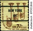 UNITED STATES - CIRCA 1975: A stamp printed in United States of America shows Saxhorns, circa 1975 - stock photo