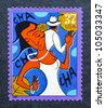 UNITED STATES  CIRCA 2005: postage stamp printed in USA showing an image of cha-cha-cha dancers, circa 2005. - stock photo