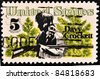 UNITED STATES - CIRCA 1967: stamp printed by United states, shows Davy Crockett and Scrub Pines, circa 1967 - stock photo