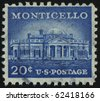 UNITED STATES - CIRCA 1954: stamp printed by United states, shows Monticello, circa 1954. - stock
