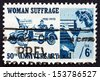 UNITED STATES OF AMERICA - CIRCA 1970: a stamp printed in the USA shows Suffragettes, 1920 and Woman Voter, 1970, 50th Anniversary of the 19th Amendment, circa 1970 - stock photo