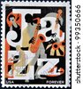 UNITED STATES OF AMERICA - CIRCA 2011: A stamp printed in USA dedicated to Jazz, circa 2011 - stock photo