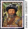 UNITED STATES OF AMERICA - CIRCA 1994: A stamp printed in USA with James Jim Bridger, circa 1994 - stock photo