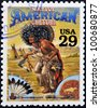 UNITED STATES OF AMERICA - CIRCA 1994 : Stamp printed in USA shows Native American culture in the American Old West, circa 1994 - stock photo