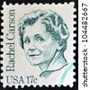 UNITED STATES OF AMERICA - CIRCA 1980: stamp printed in USA shows Rachel Carson, circa 1980 - stock photo