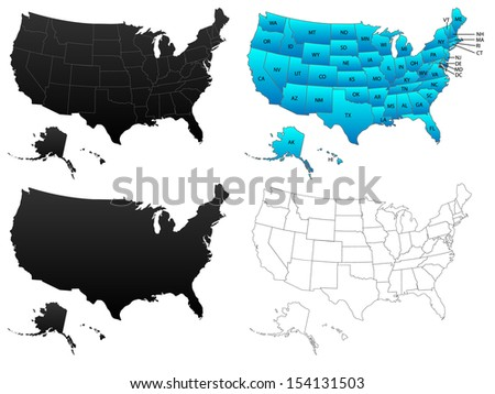 United States America Stock Illustration 14117902 Shutterstock
