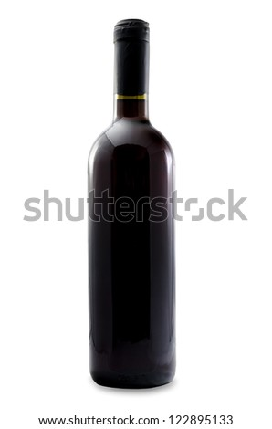 Unlabeled wine bottle