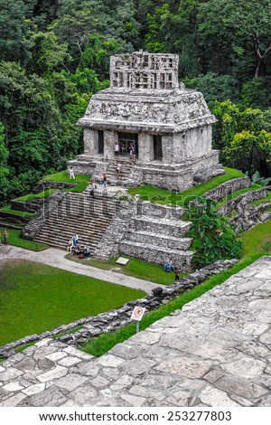 Unusual pyramid in ancient city Palenque - Mexico, Latin America