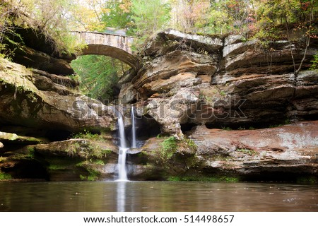 Upper Falls in Hocking Hills State Park, near Logan, Ohio