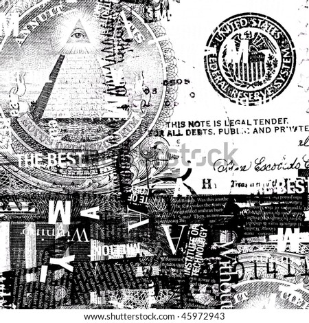 US dollar with news paper text