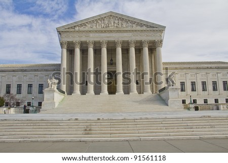 US Supreme Court in Washington, DC, Front view