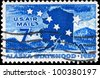 USA - CIRCA 1959: A stamp printed in USA shows Big Dipper, North Star & Map, Alaska Statehood Issue, circa 1959 - stock photo