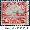 USA - CIRCA 1922: A stamp printed in USA shows Golden Gate in San Francisco, circa 1922 - stock photo