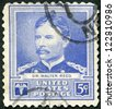 USA - CIRCA 1940: A stamp printed in USA shows portrait of Dr. Walter Reed, series Scientists, circa 1940 - stock photo