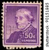 USA - CIRCA 1940: A stamp printed in USA shows portrait of Susan B. Anthony, circa 1940 - stock photo