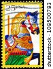 USA - CIRCA 1988: A Stamp printed in USA shows the Horse, Carousel animals, Folk Art series, circa 1988 - stock photo