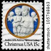 USA - CIRCA 1978: A Stamp printed in USA shows the Madonna and Child with Cherubim, by Andrea della Robbia (1435-1525), National Gallery, circa 1978 - stock photo