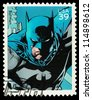 USA - CIRCA 2006: A Used Postage Stamp showing the Superhero Batman, circa 2006 - stock photo