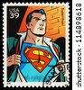 USA - CIRCA 2006: A Used Postage Stamp showing the Superhero Superman, circa 2006 - stock photo
