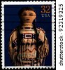 USA - CIRCA 1997 : Stamp printed in the USA shows Plains Indian doll, circa 1997 - stock photo