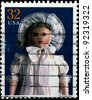 USA - CIRCA 1997 : Stamp printed in the USA shows The Columbian Doll, circa 1997 - stock photo