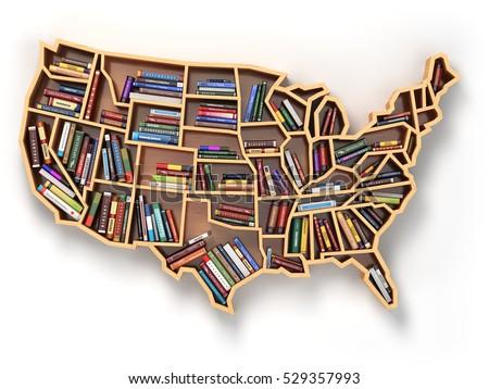 Usa Shaped Bookshelf Related Keywords Suggestions Usa Shaped