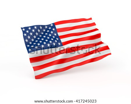 USA flag. 3D illustration