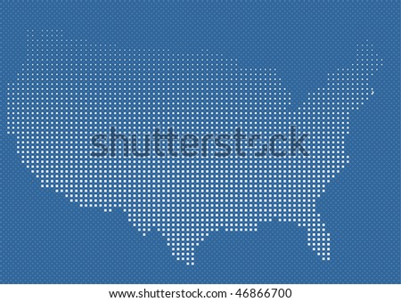 Blue Usa Network Map Vector Stock Vector Shutterstock - Map of us blue