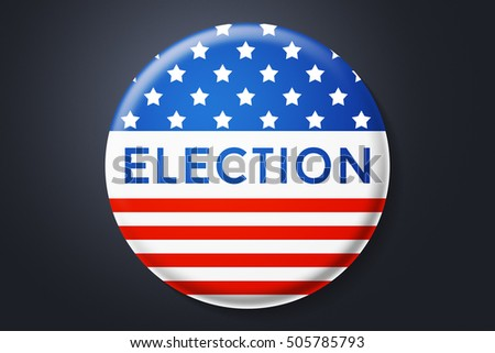 USA Presidential Elections in America 2016 Pin
